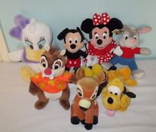 Big Bundle of Disney Soft Plush toys. Mickey Minnie brer rabbit daisy bambi