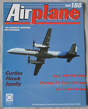 Airplane Issue 188 Curtiss Hawk Biplane Cutaway drawing & poster, Saab 340/2000