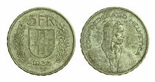 pci1414) Svizzera  Switzerland  Helvetia - 5 Franchi Francs 1933 B not cleaned