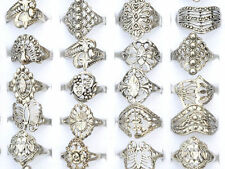 HA 10PCS Wholesale Lots Jewelry Mixed Style Tibet Silver Vintage Rings Free Ship