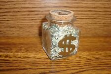Glass INK Container design of Shredded Federal Reserve Currency Money-Cash