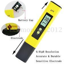 Medidor PH Precisión Metro Tester LCD Digital Para Piscina Agua Acuario 0℃~80℃