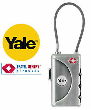 Yale TSA Soft Shackle Combination Lock with ID Tag 30mm
