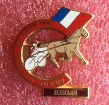Pins Cheval Turf Hippisme Course GRAND NATIONAL DU TROT 1992 REIMS