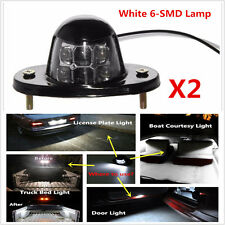 White Universal LED License Plate Light for Car Van Trailer Trucks Screw Bolt-on
