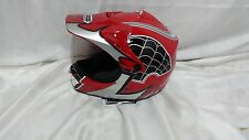 Red WOW Spider Web S HJOY Motocross MX Bike Dirtbike Youth Kids Helmet (small)