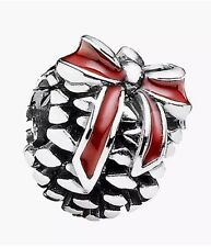 Replica Pine Cone Charm 1:1 Scale 925 With Pouch *Xmas*