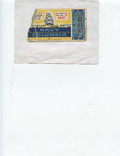 1935 NAVY vs. COLUMBIA FOOTBALL TICKET STUB (NAVY 28, COLUMBIA 7)