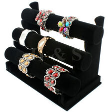 Top Quality Velvet 3 Tier Bangle Watch Bracelet Jewellery Display Stand Box Case