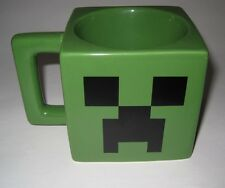 2013 MINECRAFT Video Game Creeper Face Square Ceramic Coffee Mug Dark Green