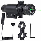 For Rifle Remote Switch 2 Mounts Tactical 532nm Green Laser Dot Scope Sight FLYG