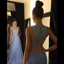 New Lace Appliques Prom Dresses Long 2016 Cheap Formal Evening Carpet Party Gown