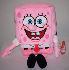 Ty Beanie Baby ~ SPONGEBOB SQUAREPANTS (PINKPANTS) ~Breast Cancer Awareness MWMT