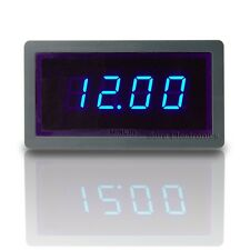 "3 1/2 Mini 0.5"" 3½ DC 20V Blue LED Digital Volt Panel Meter 12V Voltmeter"
