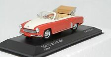1/43 Minichamps 430 015931 Wartburg 311/2 cabriolet red/white MIB