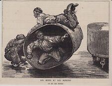 1886  --  LE MINES ET LES MINEURS   LE JEU DES BENNES   3I375