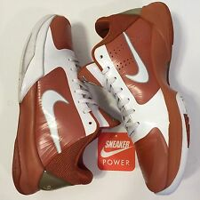 Nike Zoom Kobe V 5 Sz 8 PROMO SAMPLE TB White Burnt Orange Texas Team Bank PE IV