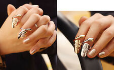Wholesale 2 Pcs Silver Gold Fashion Personality Fingernails Nails Finger Ring