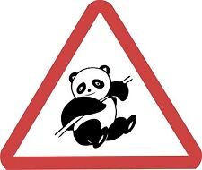Panda Roadsign Warning Road Sign Fun Sticker Decal Graphic Vinyl Label