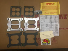 Offy Dual Quad Carb Adapter Kit to fit small Carter Rochester WCFB Intake