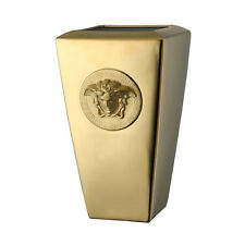"VERSACE BY ROSENTHAL, GERMANY  ""MEDUSA GOLD"" 9 1/2 INCH VASE. STUNNING!!!!!!!"