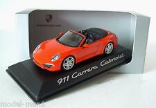 Minichamps 1/43 Porsche 911 Carrera Cabriolet 991 2012 Red Dealer Edition