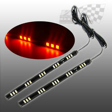 2 x Led SMD/Naranja Flexible Tira de Luz Lateral Indicador Ford Escort