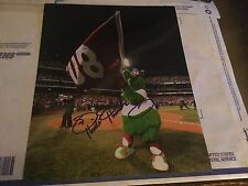 Phillie Phanatic Signed PHILLIES 2008 WSC 11X14 Photo PSA/DNA Quick Opinion