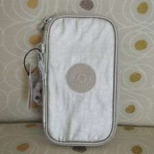 NWT Kipling Kay Pen Pencil Case Cosmetic Pouch Gleaming Gold Metallic