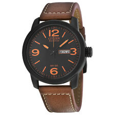 Citizen BM8475-26E Eco Drive Day/Date Brown Leather Mens Watch