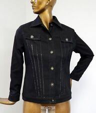St John Sport Black Denim Jacket sz S