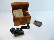 Antique Rare Refractometer by J.H. Steward of London + Fitted Case & Accessories