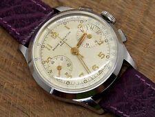Vintage 1950s Baume & Mercier Geneve two button chronograph Serviced Clean L 48