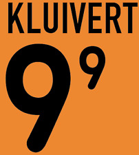 Holland Kluivert Nameset 2000 Shirt Soccer Number Letter Heat Print Football H