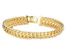 Bracelet gourmette plaqué or 18 carats maille russe homme femme ado