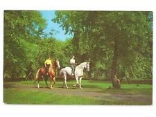 VINTAGE POSTCARD FRENCH LICK SHERATON HOTEL HORSEBACK RIDING IND IN INDIANA