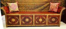Roman Statement Brass Indian Moroccan Bench Seat Chair Storage Vintage Antique