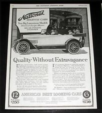1917 OLD WWI MAGAZINE PRINT AD, NATIONAL CARS, 2 BIG LUXURIOUS MODELS, 6 OR 12!