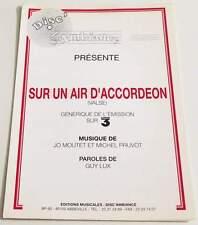 Partition sheet music GUY LUX / MICHEL PRUVOT : Sur un Air * 90's Accordéon