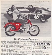 1965 SHELBY COBRA DAYTONA COUPE  ~  ORIGINAL SMALLER YAMAHA AD