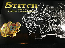 Japan Stitch Scrump Pirates of the Caribbean Captain Jack Sparrow At Helm Pin