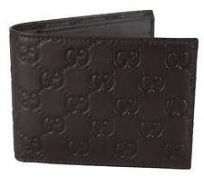 NEW Gucci 278596 64961 Men's Brown Leather GG Guccissima Logo Bifold Wallet