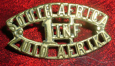 CAP BADGE-WW1 1st SOUTH AFRICAN INFANTRY BRIGADE WORN IN EUROPE 1915-1918