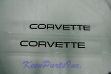 1990-1996 Corvette Door Sill Protectors (Clear w/ Black Logo) C4