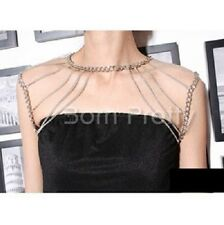 1Pc Multi-layer Alloy Body Chain Stunning Shoulder Jewelry Necklace Decoration