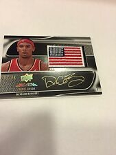 2008-09 UD Black Daniel Gibson U.S. Flag Patch Rare GOLD Auto #21/25