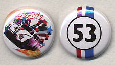 HERBIE  Badge Button Pin Pair - Love Bug !