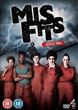 MISFITS MIS FITS COMPLETE SERIES 2 DVD All Episodes from 2nd Season New Sealed