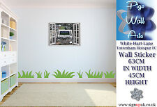 Kids Bedroom White-Hart-Lane Tottenham Hotspur FC 3D Effect window wall sticker.