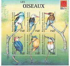 Guinea - Birds, Fauna, 2001 - Sc 1963 Sheetlet of 6 MNH